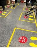 Social Distance Floor Markers