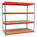 Heavy Duty Rivet Racking (Wide Bays)